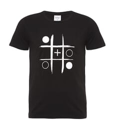 Noughts and Plusses Black T-shirt