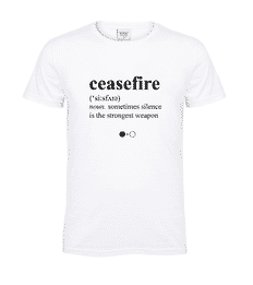 Ceasefire Dictionary T-shirt