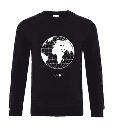 Black and White Globe Sweatshirt