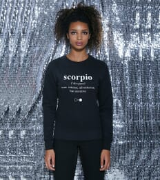 Scorpio Dictionary Sweatshirt (womens)