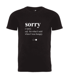 Sorry Dictionary T-shirt