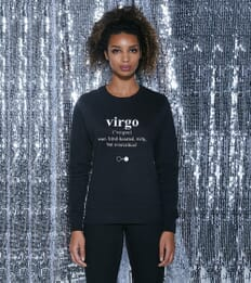 Virgo Dictionary Sweatshirt (womens)