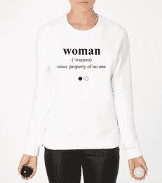 Woman Dictionary Sweatshirt