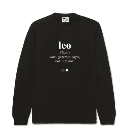 Leo Dictionary Sweatshirt (mens)