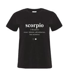 Scorpio Dictionary T-shirt (womens)
