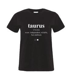 Taurus Dictionary T-shirt (womens)